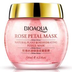 BIOAQUA No Wash Rose Petal Sleeping Mask Cream Essence Moisturizing Night Cream Anti Aging Anti Wrinkle Nutrition Face Mask