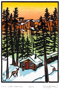 woodblock prints   Store   Great Wolf and the Good Woodsman   Once, Long Years Ago   Woodcuts by Betsy Bowen