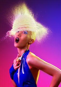 WATER-WIGS by LA Photographer Tim Tadder. This is SO COOL!! To create these futuristic looking images, Tim had the simple task of finding women who were willing to shave their hair off (or wear bald caps) and have water balloons hurled at their heads. Once everything was in place, Tim would then snap the photo, capturing the explosion of water at just the right moment. AMAZING