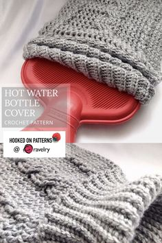 Crochet a cozy cable knit style hot water bottle cover, perfect for snuggling up with through the winter. These would also make great unisex gifts. Crochet Cozy, Love Crochet, Crochet Ideas, Crochet Projects, Microwave Heat Pack, Water Bottle Covers, Modern Crochet Patterns, Unisex Gifts, Cork Crafts