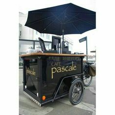 Food Truck Design, Food Design, Coffee Food Truck, Bike Food, Honey Drink, Food Kiosk, Ice Cream Cart, Food Truck Business, Hot Dog Cart