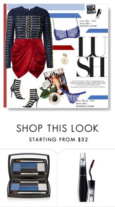 """""""Nights in blue satine"""" by naki14 ❤ liked on Polyvore featuring Lancôme, Estée Lauder, lingerie and maisonclose"""