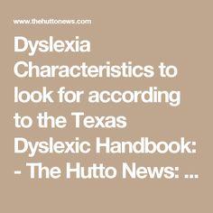 Dyslexia Characteris