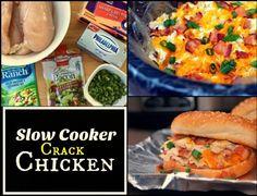 Slow Cooker Crack Chicken | Aunt Bee's Recipes