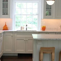 Kitchen with Orange Accents, Transitional, Kitchen, Cynthia Brooks Design