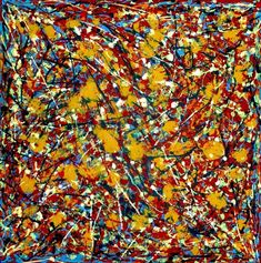 jackson pollock paintings | ... to Jackson Pollock 88 D - F.7867 - Pictify - your social art network  COMMENT Although I don't like this piece as a whole I like what is used to create it, the technique the artist has used to splat the paint onto the canvas, perhaps they did it in layers which is how they got the final result so opaque.