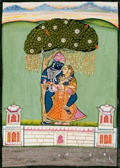 SHRINATHJI AND SWAMINIJI. Opaque pigment on paper, India, Nathdwara, 19th Century Pichwai Paintings, Mughal Paintings, Indian Art Paintings, Baby Krishna, Radha Krishna Love, Indian Folk Art, Indian Artist, Paint Photography, Fine Art Photography