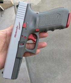 """Nintendo """"Zapper"""" Glock 17 this is getting to be a really popular gag, isn't it? Weapons Guns, Guns And Ammo, Airsoft, Glock Mods, By Any Means Necessary, Fire Powers, Custom Guns, Cool Guns, Firearms"""