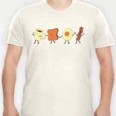 Let's All Go And Have Breakfast T-shirt by Teo Zirinis - $18.00