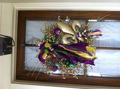 My Mardi Gras wreath!!!
