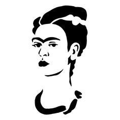 Pochoir Frida Kahlo #graffiti #street #art #streetart #sketch #drawing #fridakahlo