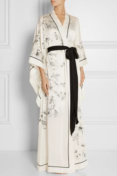 Carine Gilson|Aurelia printed silk-satin robe|NET-A-PORTER.COM $2005