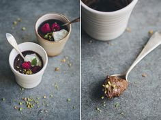 almond and chocolate pots de creme // dairy free pots de creme ---> these turned out FABULOUS!