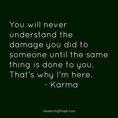 I'm just gonna sit back & enjoy the shit show! Karma's a bitch, just like me! I knew this was gonna happen! LMFAO ;)