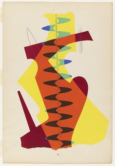The Meeting from the portfolio Revolving Doors  Man Ray (American, 1890–1976)    (1926). Pochoir, composition (irreg.): 18 15/16 x 12 5/8""