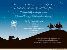 Annual Clergy Appreciation Dinner Party Invitation Design Dinner Party Invitations, Christmas Party Invitations, Christmas Printables, Christmas Crafts, Christian Christmas Cards, Christmas Pageant, Meaning Of Christmas, Three Wise Men, A Child Is Born