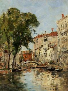 A Small Canal in Venice, 1895, Eugène Louis Boudin. French (1824 - 1898)
