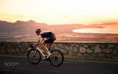 Sunset Road Biking in Corsica, France by Christoph Oberschneider on Cool Bike Helmets, Mountain Bike Helmets, Mountain Biking, Road Cycling, Road Bike, Sunset Road, France, Sardinia, Facebook