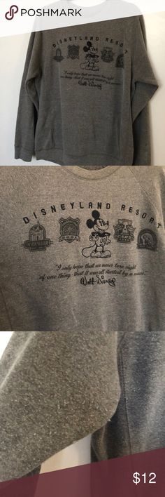 Disneyland resort jacket Disneyland resort jacket. Has some signs of wear, shown in the third picture. Disney Sweaters Crew & Scoop Necks
