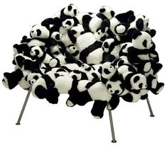 20 of the World's Strangest Chairs (cool chairs) - ODDEE Panda Chair by Brazilians Fernando and Humberto Campana only 25 chairs made