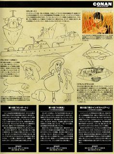 Conan The Boy In Future 18 Hayao Miyazaki, Advance Wars, Future Boy, Ghibli Movies, Car Drawings, Studio Ghibli, Conan, Storyboard, Cartoon Art