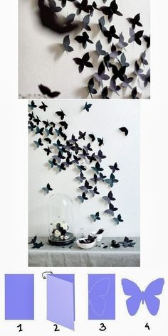 DIY: Butterfly Interior Decor: If I ever have a little girl!