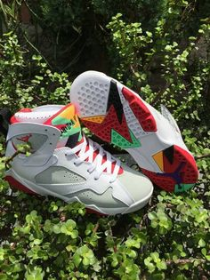 89bd221725bc95 Big Boys Shoe Air Jordan 7 VII Youth Hare White Red