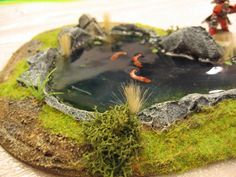 fish in pond detail
