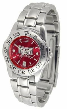 Troy State Trojans Sport AnoChrome Ladies Watch with Steel Band by SunTime. $63.64. This handsome, eye-catching watch comes with a genuine leather strap. A date calendar function plus a rotating bezel/timer circles the scratch-resistant crystal. Sport the bold, colorful, high quality NCAA Troy State Trojans logo with pride.The AnoChrome dial option increases the visual impact of any watch with a stunning radial reflection similar to that of the underside of a CD. Perce...
