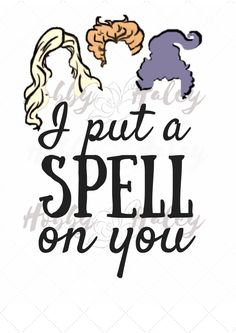 Hocus Pocus Halloween Spell on You. Halloween Spells, Halloween Rocks, Halloween Signs, Halloween Shirt, Fall Halloween, Halloween Crafts, Halloween Decorations, Silhouette Projects, Silhouette Design