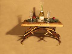 Antler table | chalet style #geweih #geweihe #hirschgeweih #chaletalpin #geweihdesign #chalet #jagd #jagdhütte #deer #deerlove #inneneinrichtung #geweihdeko #Hirschgeweihdeko #innenarchitektur #diy #picoftheday #ohmydeer #selfmade #deko #landhausdeko #alpinstyle #eiche #landhaus #landhausstyle #handmade #holz #almhütte #austria #hunting #hunter #wood #antler #holzhaus #holzhütte #rustic #rustikal Hirschgeweih Deko | Natur pur #modern #table #tisch #antlerchandelier Bar Cart, Modern, Design, Furniture, Home Decor, Antler Lamp, Oak Tree, Rustic, Homemade Home Decor