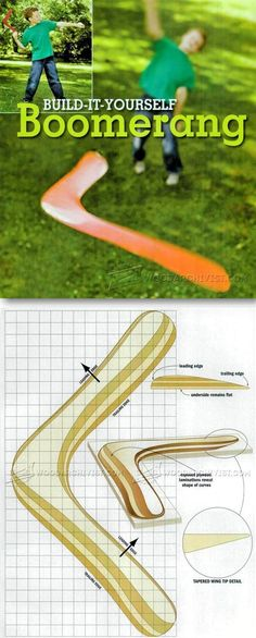 Make Boomerang - Children's Wooden Toy Plans and Projects | WoodArchivist.com #woodworkingplans