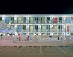 Lollipop Motel. The Historic Midcentury Modernist Motels of the New Jersey Coast. Five years ago, Tyler Haughey was driving along the coast when he happened to pass through the Wildwoods. A Jersey Shore native, he'd heard about the Wildwoods but had never been to any of them before. It was February, and the motels were deserted, but he found them captivating, and so he stopped to photograph some of them.