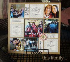 Family Scrapbook ideas