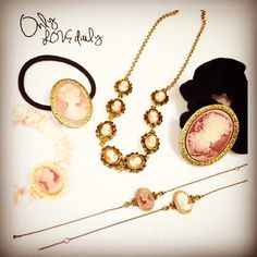 「cameo series #cameo #accessory #necklace #bracelet #headaccessory #old #onlylovedaily」