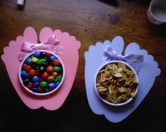 Baby Shower Table Favor/ Baby Feet Nut and Candy Cup di lramian