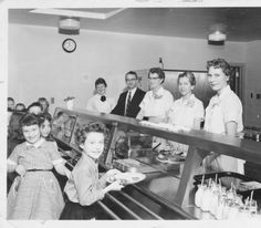 What was on the 1955 lunch menu for Blue Jacket Elementary?