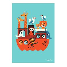 Retro Ark Poster by Ingela Arrenhius (£18.95) Gorgeous, fun and quirky gifts for you and your home Hunkydory Home