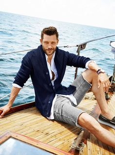 John Halls Models Nautical Styles for Simons Summer 2014 Look Book image john simons001