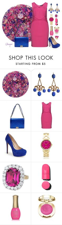 """""""Pink and Cobalt"""" by gemique ❤ liked on Polyvore featuring Nails Inc., Chanel, Manon Baptiste, Jessica Simpson, Geneva, ORLY, Juicy Couture, women's clothing, women and female"""