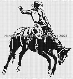 Bead Pattern Western Bronco Cowboy Peyote or Loom Stitch. $7.99 Visit: www.bonanza.com/... where you will find over 290 items from beads, beading supplies, bead patterns, jewelry. Plus instructional books on jewelry makeing, beading, polymer clay and precious metal clay. Thank you for looking.