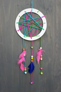 Easy Crafts Simple Kids Crafts New Simple and Chic Diy Dream Catcher An Easy . Easy Crafts For Kids, Summer Crafts, Diy For Kids, Crafts To Make, Fun Crafts, Arts And Crafts, Children Crafts, Kids Craft Kits, Simple Craft Ideas
