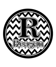 Take a look at this Black & White Zigzag Personalized Wall Art by Baby Milano on #zulily today!
