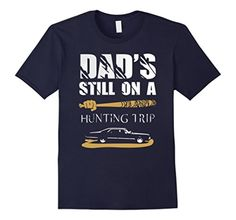 Men's Dad's Still On Hunting Trip T-shirt 3XL Navy - Brought to you by Avarsha.com