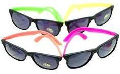 80s style wayfarer neon sunglasses