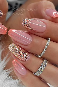 Pin on uñas Classy Nails, Stylish Nails, Trendy Nails, Cute Nails, Fancy Nails, Summer Acrylic Nails, Best Acrylic Nails, Shellac Nail Art, Gel Manicure