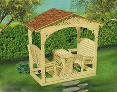 Covered Glider Swing Plan for Your Backyard