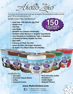 8g fiber, 14g whey protein, and only 150 cal in the entire PINT! I buy mine at Feel Rite =)) you're welcome.