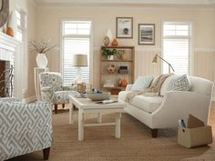 Cottage Style Living Room Furniture Ideas 7