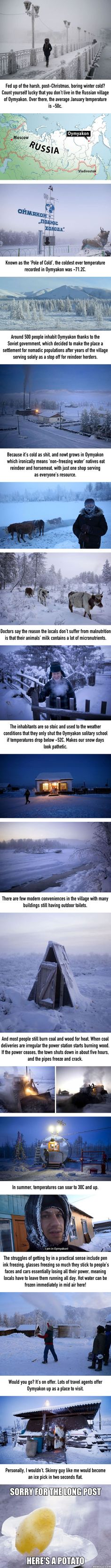 Welcome To Oymyakon, World's Coldest Village Where Average Temperature In Winter Is -50°C